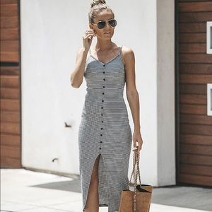 NWT Button front striped dress